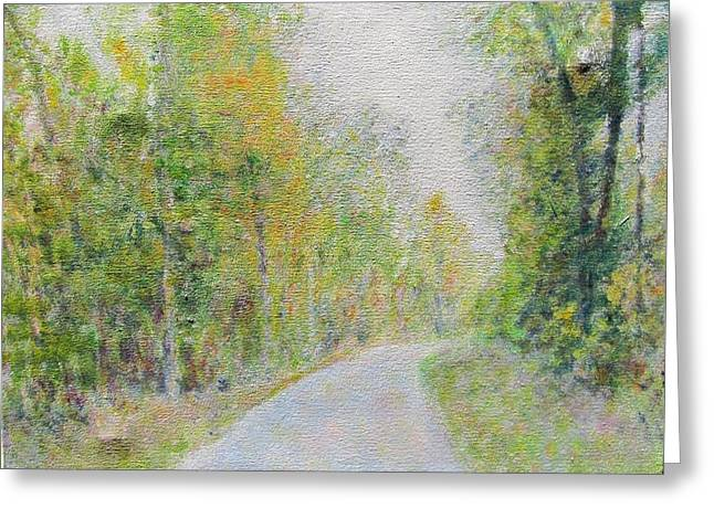 Impressionism Greeting Cards - Country Road  Greeting Card by Glenda Crigger
