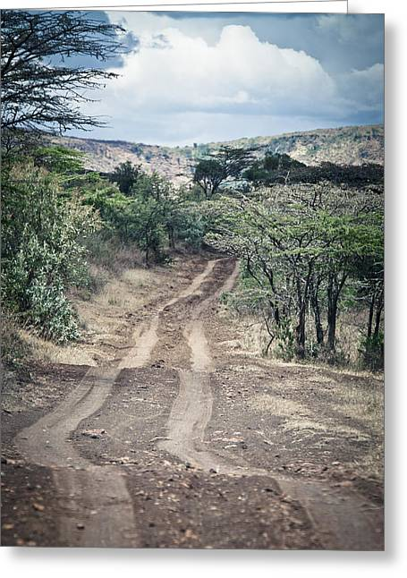 Native African Ethnicity Greeting Cards - Road in Africa Greeting Card by Mesha Zelkovich