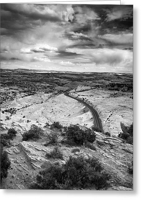 Escalante National Monument Greeting Cards - Road in the Desert Greeting Card by Andrew Soundarajan