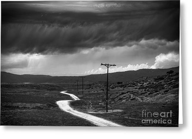 Back Country Greeting Cards - Road into the Storm Greeting Card by Alexander Kunz
