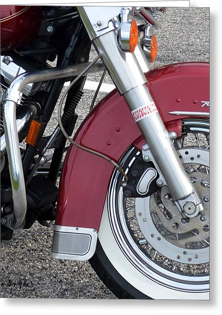 Coast Highway One Greeting Cards - Road King Detail Greeting Card by Barbara Snyder