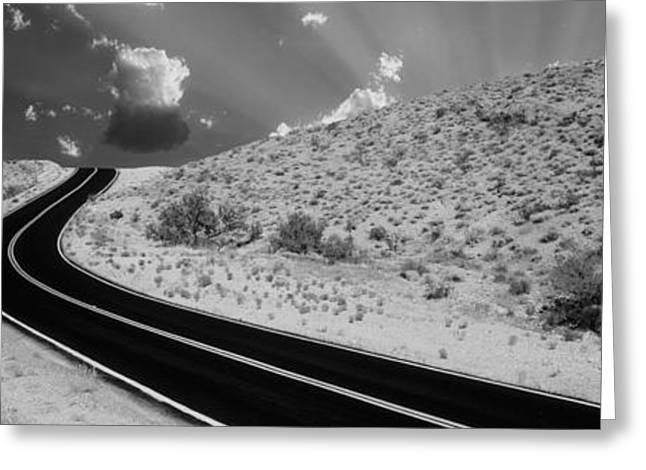 Roadway Greeting Cards - Road, Las Vegas, Nevada, Usa Greeting Card by Panoramic Images