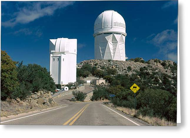 The Hills Greeting Cards - Road Leading To Observatory, Kitt Peak Greeting Card by Panoramic Images
