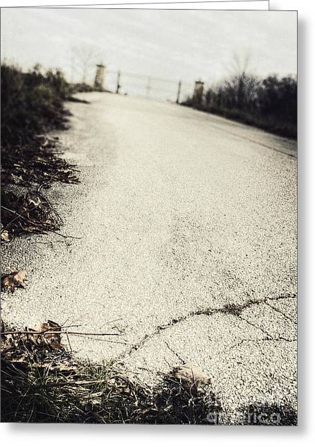 Old Roadway Greeting Cards - Road Less Traveled Greeting Card by Margie Hurwich