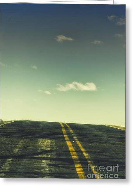 Old Roadway Greeting Cards - Road Greeting Card by Margie Hurwich
