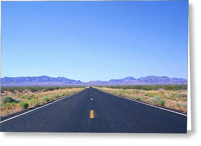 Roadway Photographs Greeting Cards - Road, Nevada, Usa Greeting Card by Panoramic Images
