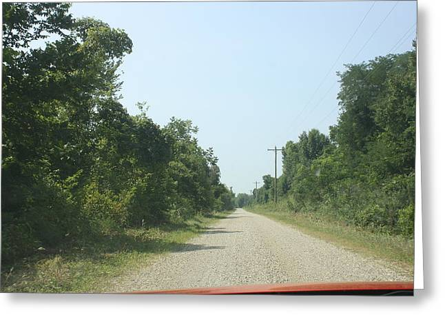 Gravel Road Mixed Media Greeting Cards - Road Once Traveled Greeting Card by Michelle Will