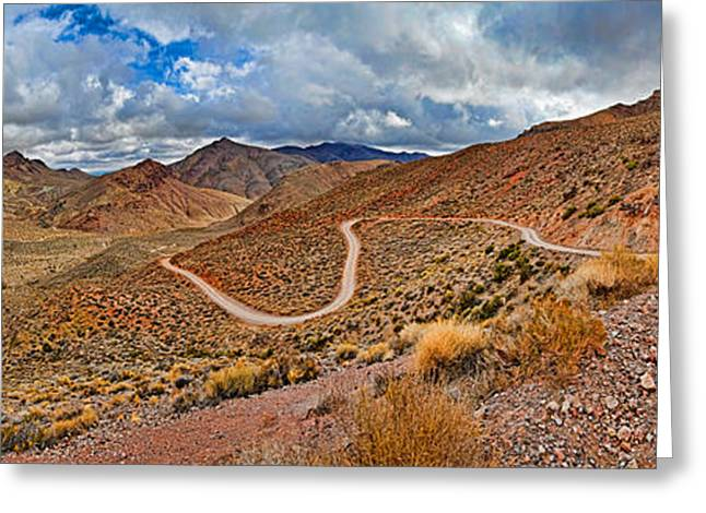 Grapevine Greeting Cards - Road Passing Through Landscape, Titus Greeting Card by Panoramic Images