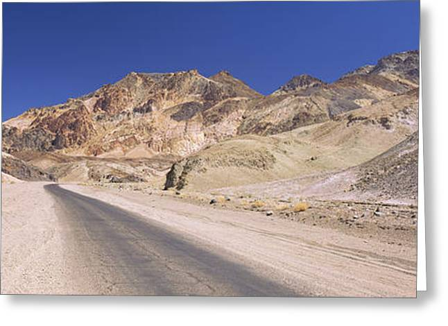 Mountain Greeting Cards - Road Passing Through Mountains, Artists Greeting Card by Panoramic Images