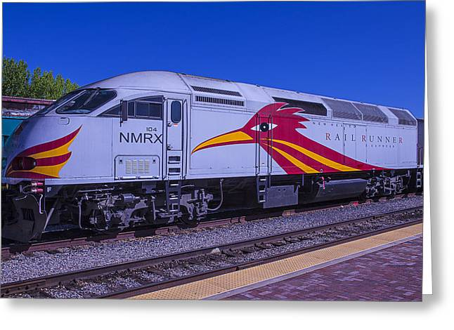 Road Runner Greeting Cards - Road Runner Express Train Greeting Card by Garry Gay