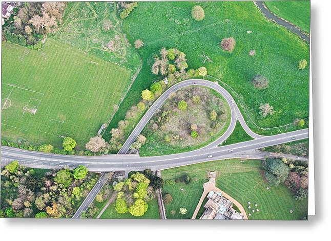 Height Greeting Cards - Road system Greeting Card by Tom Gowanlock