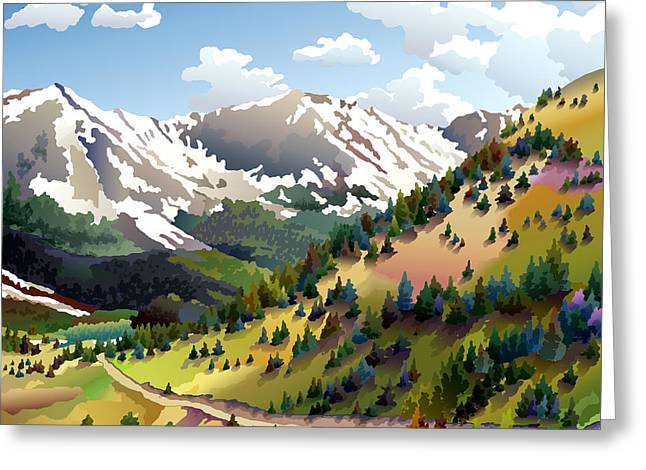 Road To Alma Greeting Card by Anne Gifford