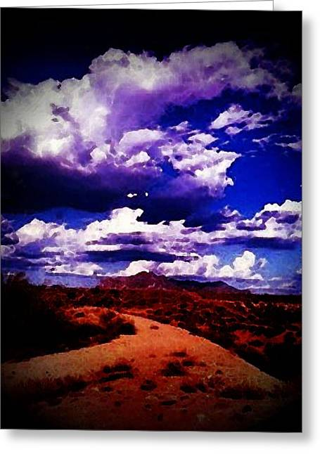 Road To Arizona Greeting Card by Chepe Guillen