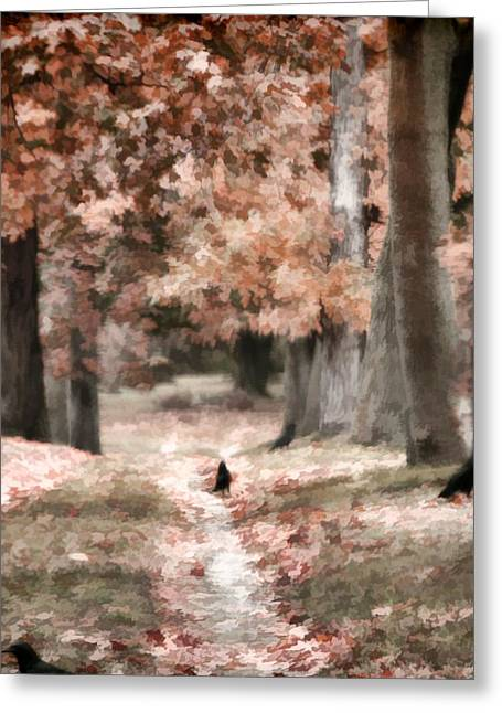 Fall Scenes Greeting Cards - Road To Autumn Greeting Card by Gothicolors Donna Snyder