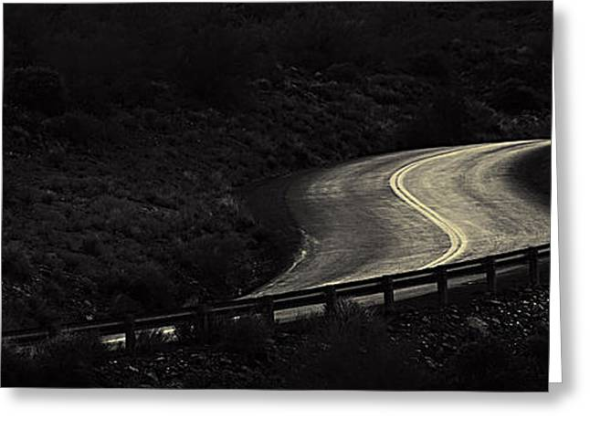 Scenic Drive Greeting Cards - Road to Bumble Bee Greeting Card by John Nelson