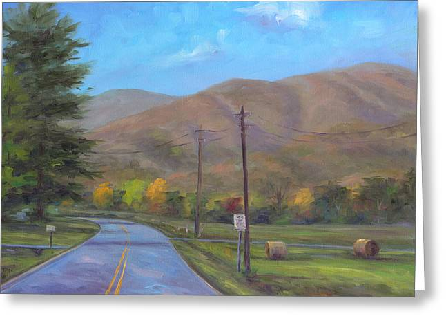 Mountain Road Greeting Cards - Road to Cold Mountain Greeting Card by Jeff Pittman