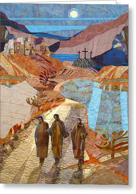 Road To Emmaus Greeting Card by Michael Torevell