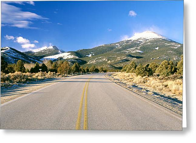 Lifeless Greeting Cards - Road To Great Basin National Park Greeting Card by Panoramic Images