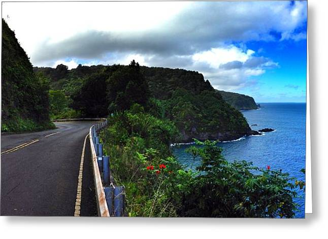 Maui Greeting Cards - Road to Hana Greeting Card by Jeff Klingler