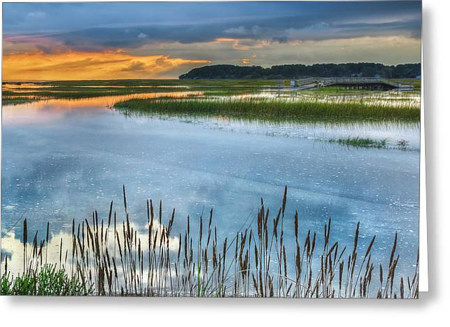 Cape Cod Greeting Cards - Road to Lieutenant Island Square Greeting Card by Bill  Wakeley