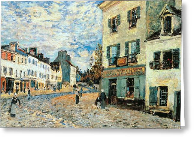 1874 Greeting Cards - Road to Marly Greeting Card by Alfred Sisley