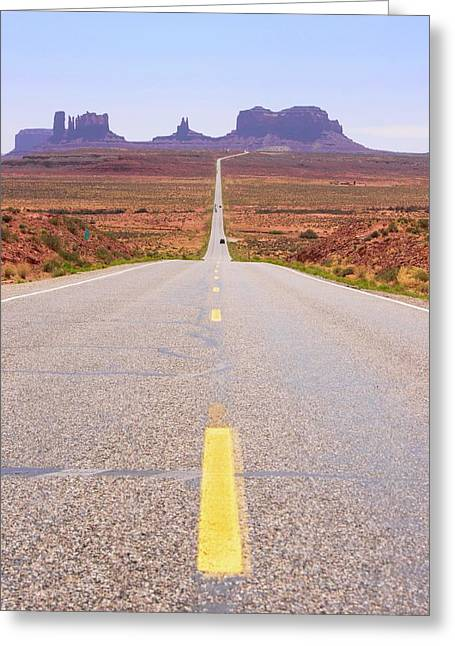 Road To Monument Valley. Greeting Card by Mark Williamson