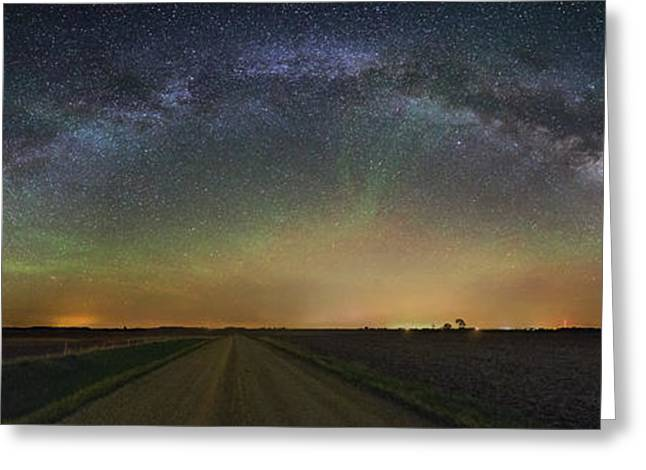 Air Greeting Cards - Road to Nowhere   Air Glow Greeting Card by Aaron J Groen