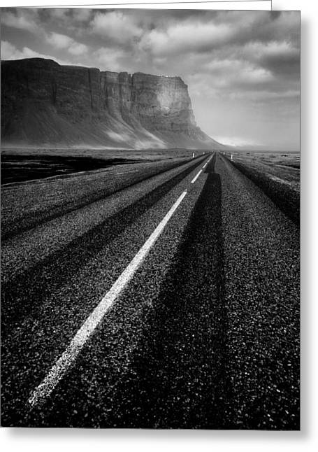 Monochrome Greeting Cards - Road to Nowhere Greeting Card by Dave Bowman