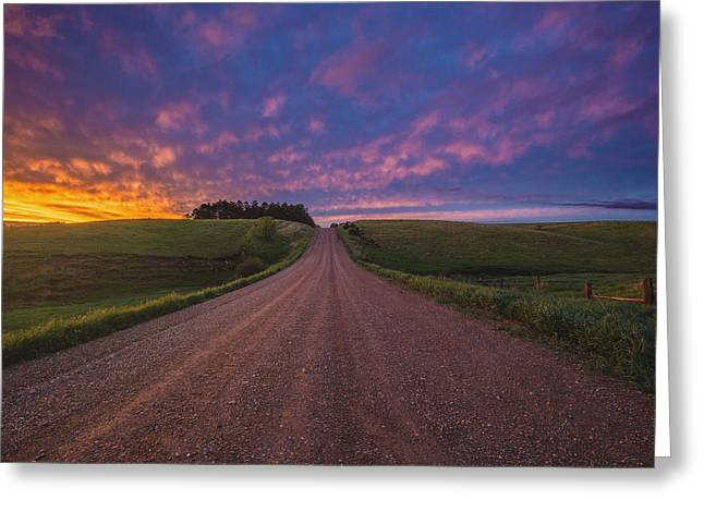 Lyon Greeting Cards - Road to Nowhere EL Greeting Card by Aaron J Groen