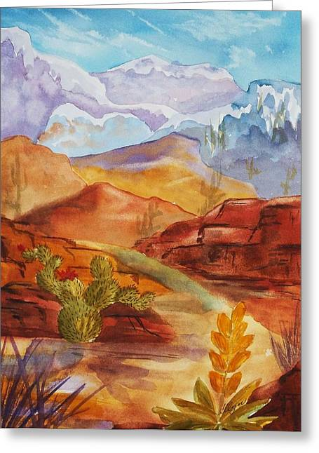 Snow Capped Greeting Cards - Road to Nowhere Greeting Card by Ellen Levinson