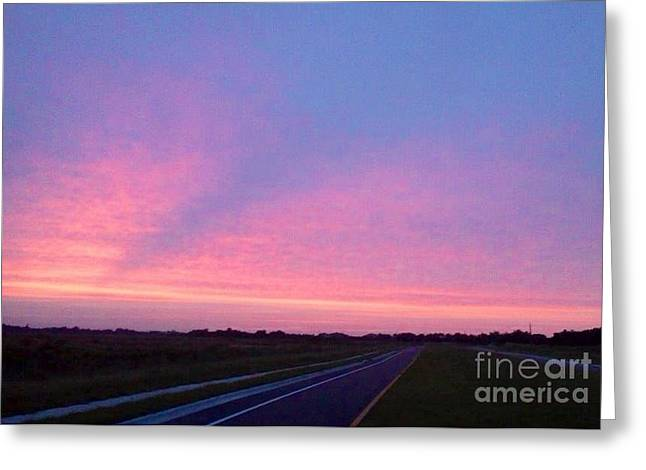 Paradise Road Greeting Cards - Road to nowhere Greeting Card by Melissa Darnell Glowacki