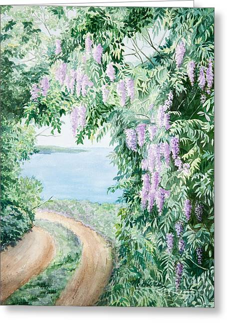 Michelle Greeting Cards - Road to Paradise Greeting Card by Michelle Wiarda
