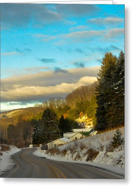 Mountain Road Greeting Cards - Road To Paradise Greeting Card by Scott Hafer