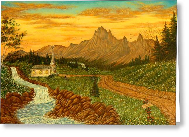 Road To Redemption Greeting Card by David Bentley