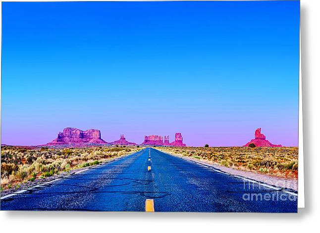 Monument Photographs Greeting Cards - Road To Ruin 2 Greeting Card by Az Jackson