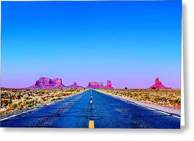 Navajo Greeting Cards - Long Road To Ruin Greeting Card by Az Jackson