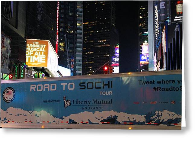Sochi 2014 Winter Olympics Greeting Cards - Road To Sochi Greeting Card by Dan Sproul