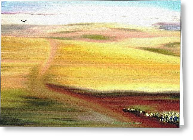 Road To Somewhere Greeting Card by Lenore Senior