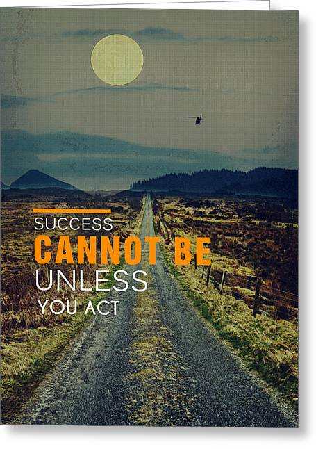 Road To Success Greeting Card by Celestial Images
