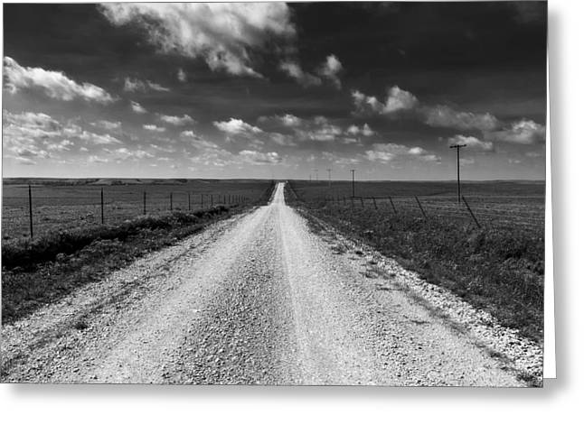 Barbed Wire Fences Greeting Cards - Road to Texaco Hill Greeting Card by Eric Benjamin