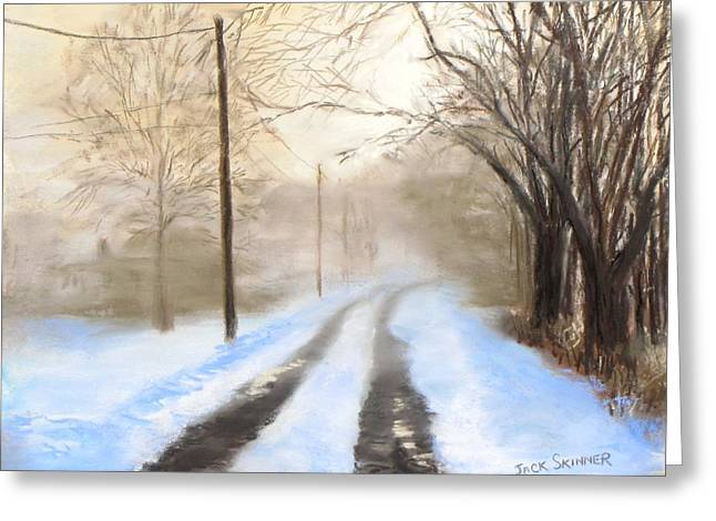 Jack Skinner Greeting Cards - Road to the Ice House Greeting Card by Jack Skinner