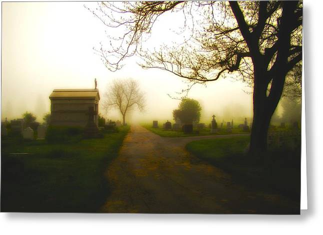 Road To The Mausoleum Greeting Card by Gothicolors Donna