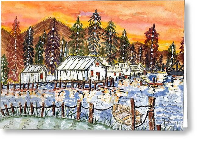Oranage Greeting Cards - Road To The Oregon Coast Greeting Card by Connie Valasco