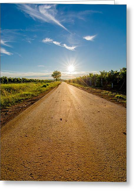 Go Forward Greeting Cards - Road to the Sun Greeting Card by Andreas Berthold