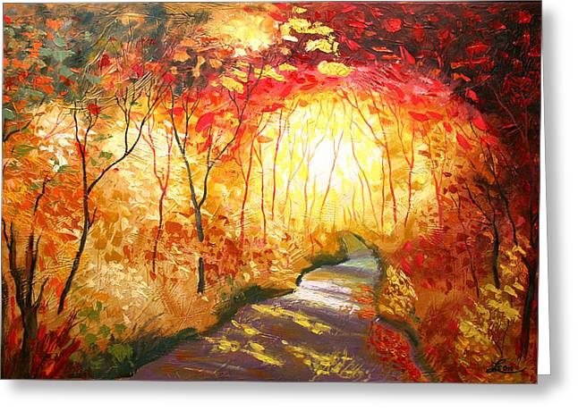 Love Image Greeting Cards - Road to the Sun Greeting Card by Leon Zernitsky