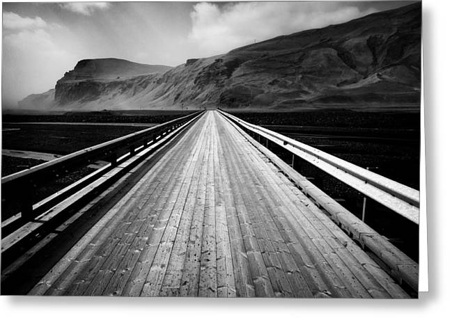 Rural Road Greeting Cards - Road to Vik Greeting Card by Dave Bowman