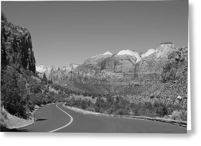 Road To Zion Greeting Card by Kimberly Oegerle