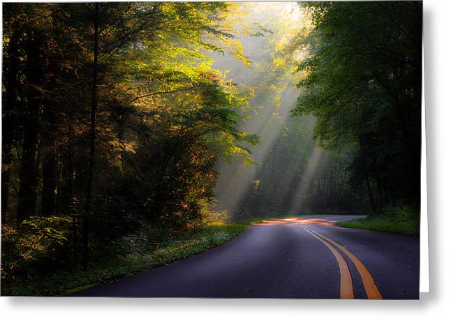 Roadway Greeting Cards - Road Trip 2 Greeting Card by Michael Eingle