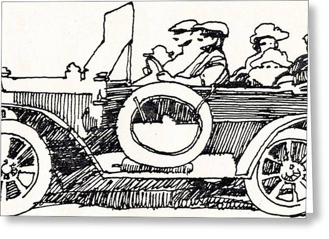 Road Trip Drawings Greeting Cards - Road Trip Greeting Card by Dale Michels