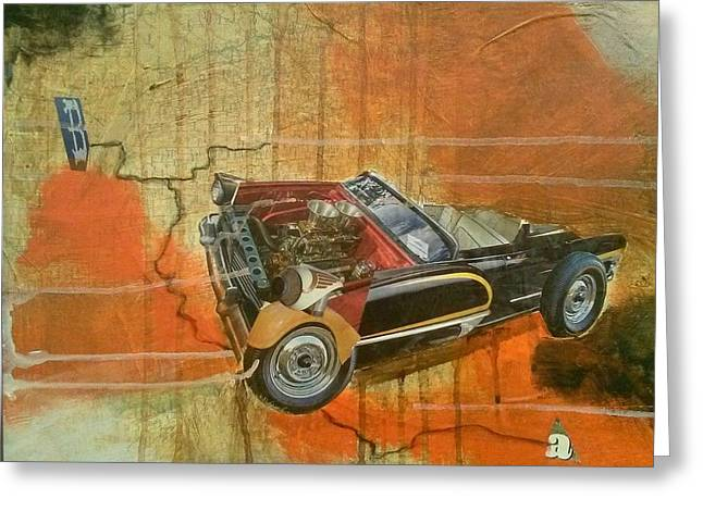 Car Part Mixed Media Greeting Cards - Road Trip Greeting Card by Daniel King